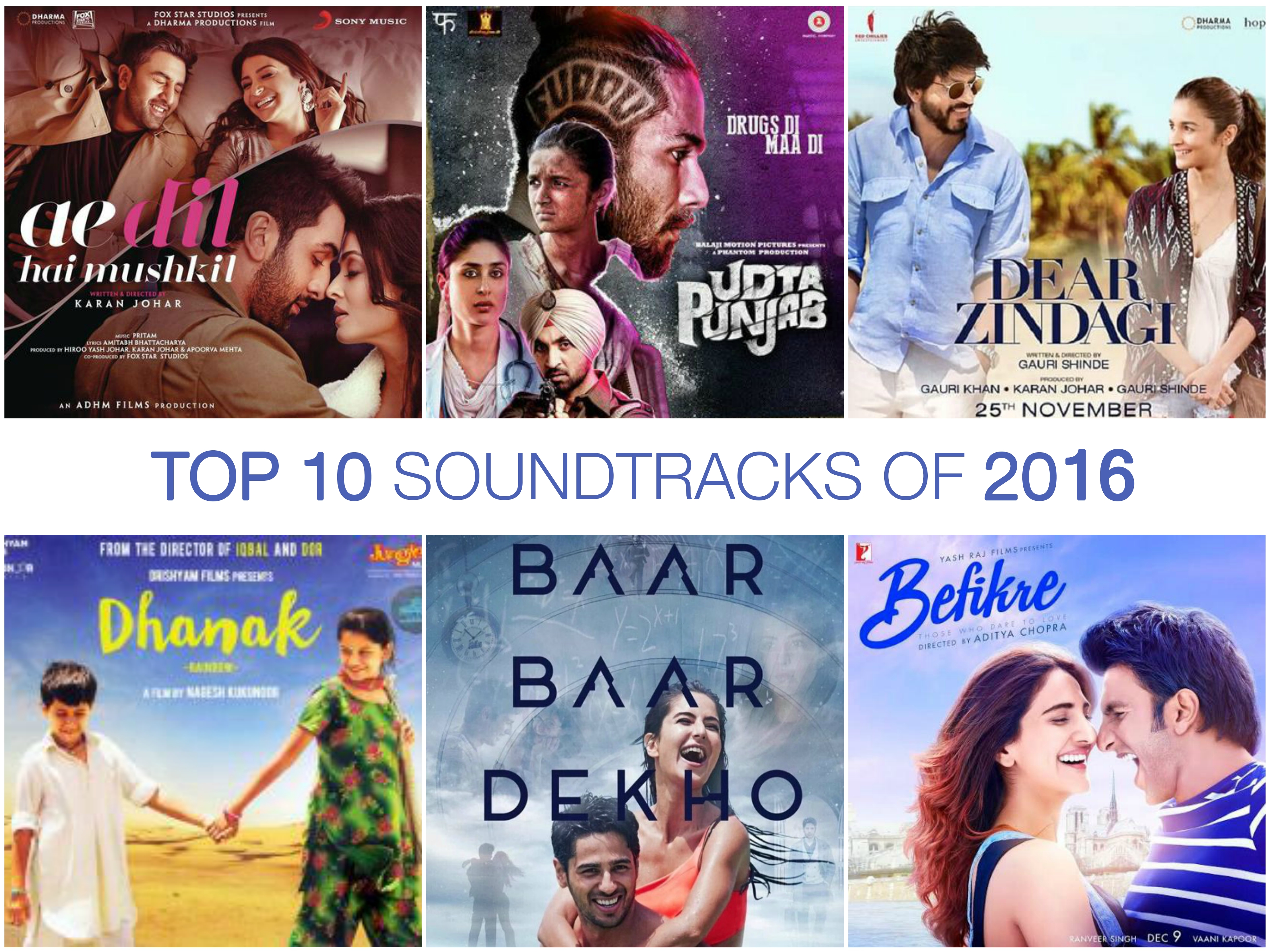 Top 10 Bollywood Soundtracks | 2016 Roundup